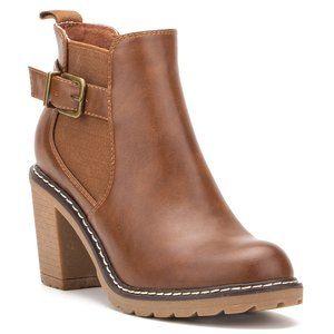 Olivia Miller Hailey Chunky Heel Booties